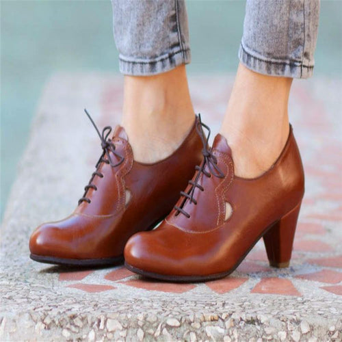 Casual Everyday Lace-Up Heels
