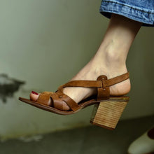 Load image into Gallery viewer, Fashion Retro   Buckled Chunky Sandals