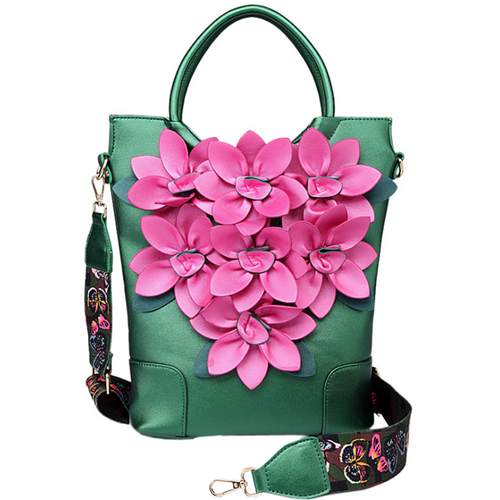 Ethnic style retro flower crossbody bag