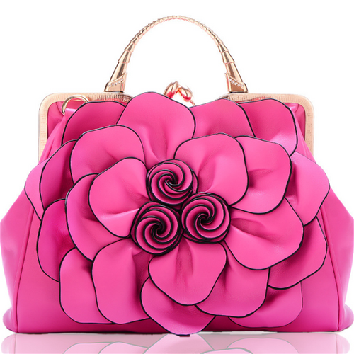 Rose flower fashion casual shoulder bag