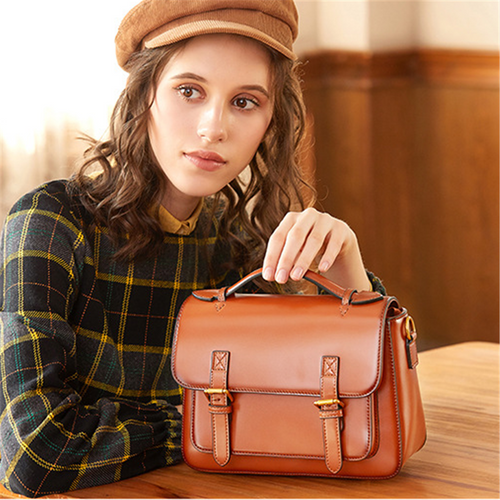 Fashion vintage leather messenger bag