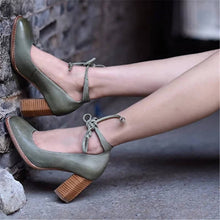 Load image into Gallery viewer, Fashion Retro Straps Square Head High Heels