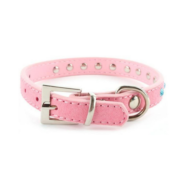 Vegan Leather Rhinestone Collar