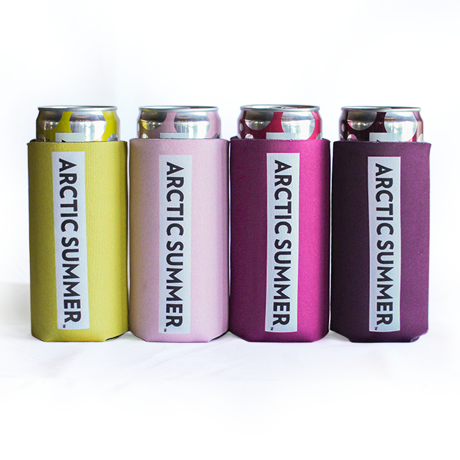 Arctic Summer Slim Koozie (Individual or Set of 4)
