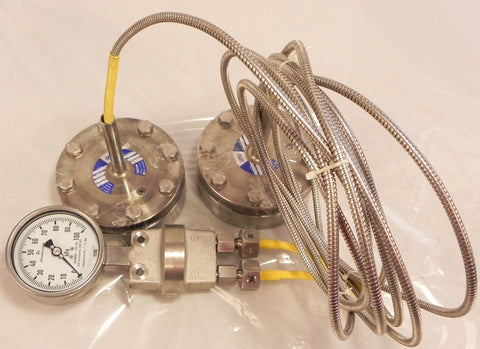 Wika 100 kPa Differential Pressure Gauge w/ Seals 732.51 / 990.41