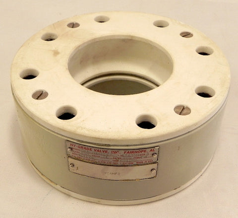"Hy-Grade 4"" PTFE Teflon Check Valve P04-GHH-F4 For Corrosive Application"