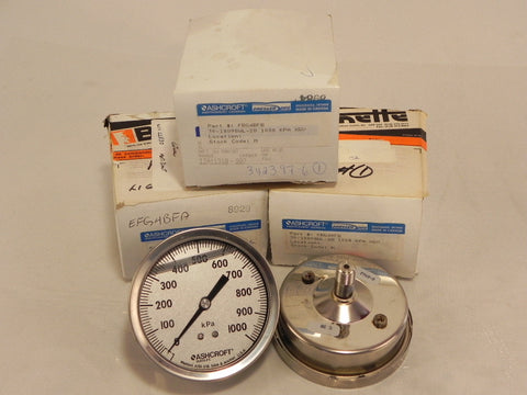 Ashcroft Pressure Gauge FBG4BFB (Lot of 3)