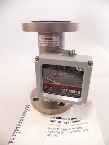 "Brooks Variable Area Flowmeter 2"" MT 3819"