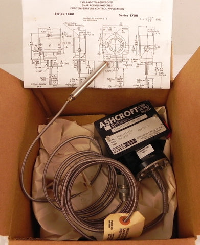 Ashcroft Snap Action Temperature Switch T424T15-030