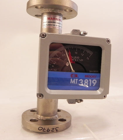 Brooks Metal Tube Variable Area Flowmeter MT 3819 DN25