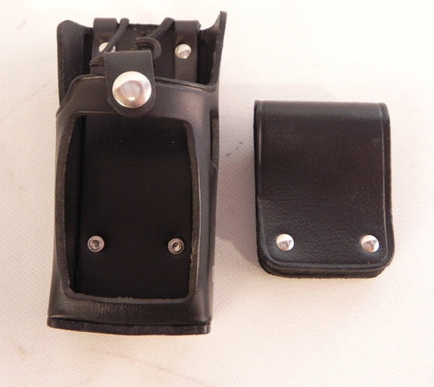 Icom Leather Case w/ Clip New ICF3 (lot of 2)