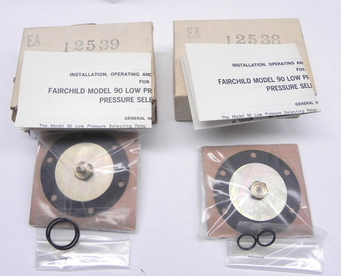 Fairchild Pressure Selecting Relay 12538 & 12539