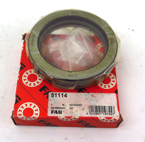 FAG Thrust Ball Bearing 51114 70mm Bore