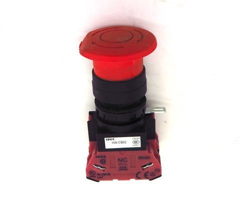 IDEC Red Twist Release Pushbutton HW-CB02