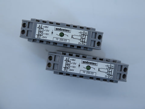 Entrelec 10 230.03 Relay Terminal Block - USED (Lot of 2)