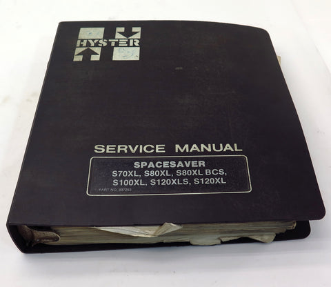 Hyster Spacesaver Lift Truck S70 / S120E S3.50 / 5.50XL Parts Manual 852319