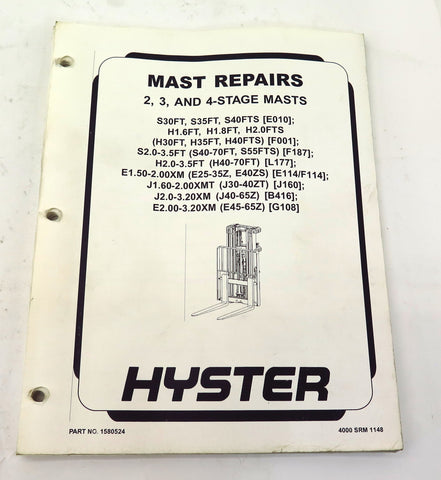 Hyster Lift Truck Mast Repairs Manual 1580524