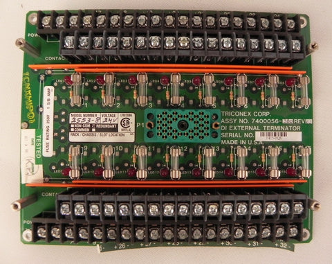 Triconex Terminal Board for 2553 7400056-380