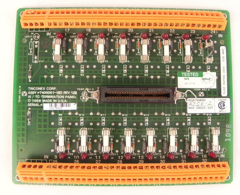 Triconex Terminal Panel for 2750-2  300012-220