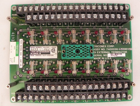 Triconex Terminal Board for 2553 7400056-310