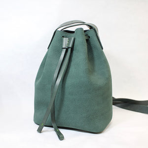 Bucket Bag Mini Dunkelgrün