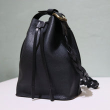 Load image into Gallery viewer, Bucket Bag Mini Black Braid