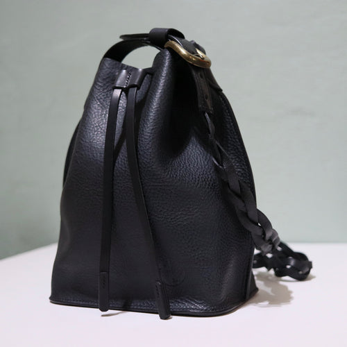 Bucket Bag Mini Black Braid