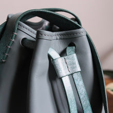 Load image into Gallery viewer, Bucket Bag Mini Grey Icy Mint