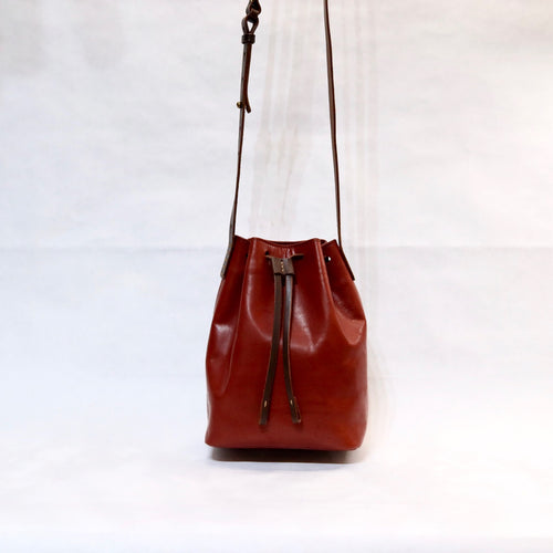 Bucket Bag Mini Red-Brown