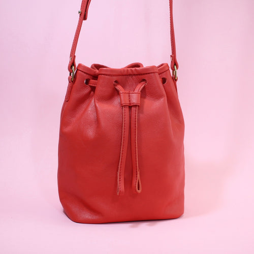 Bucket Bag Mini Red Gold