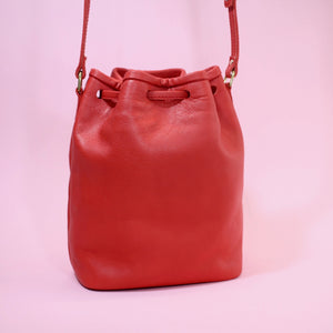 Bucket Bag Mini Rot & Gold