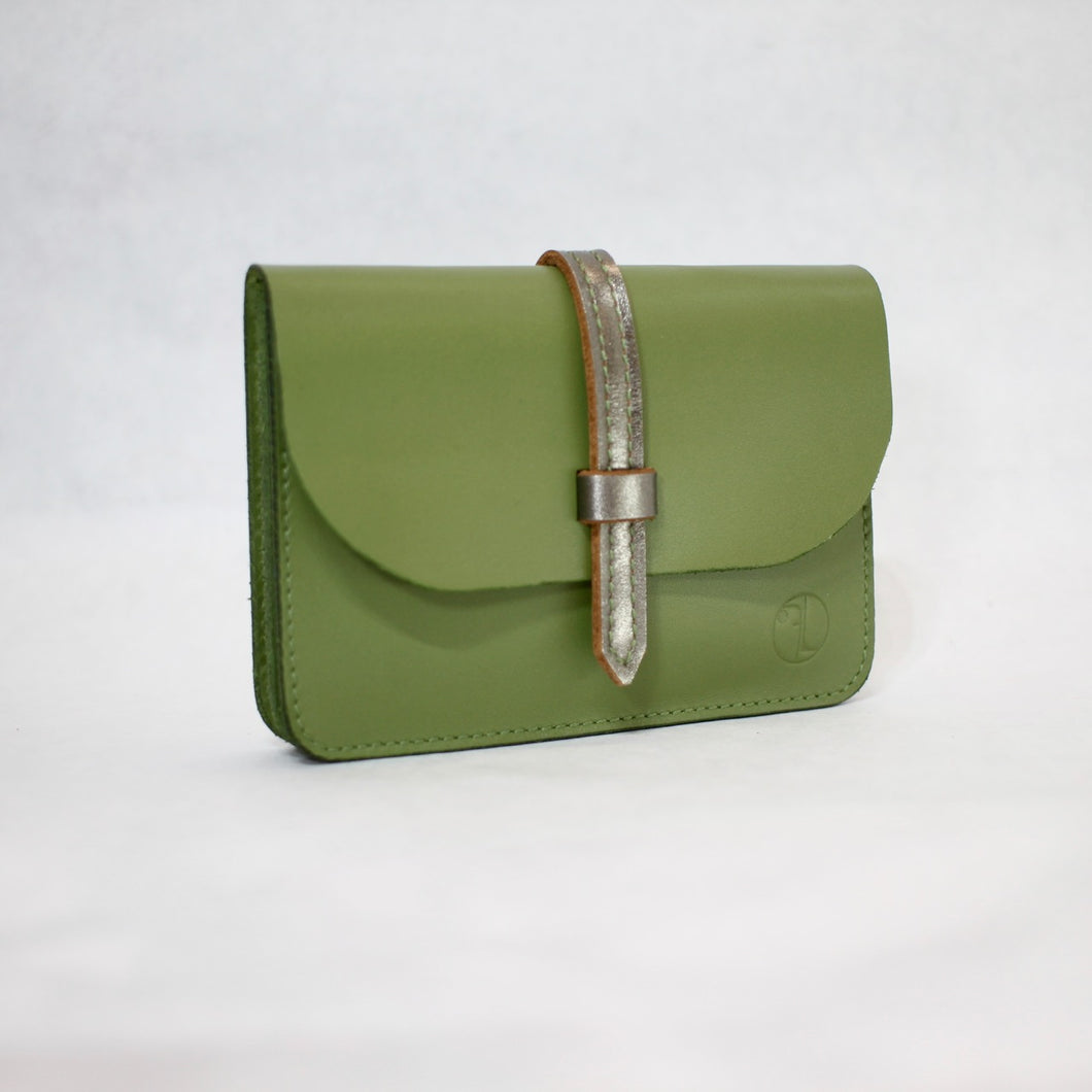 Loopy Wallet Silver Green