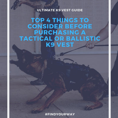 4 Things to consider when evaluating a Tactical K9 vest/harness