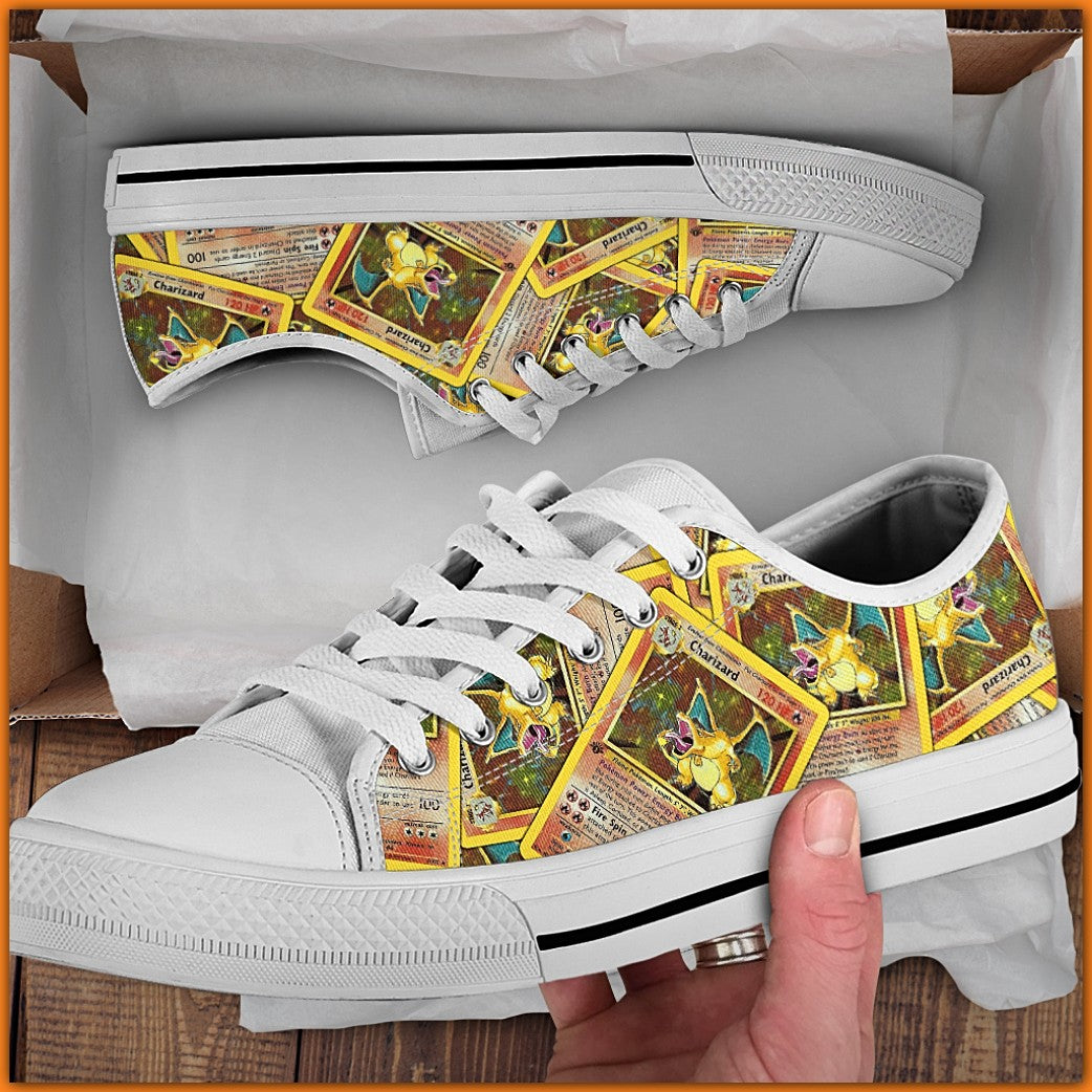 First Edition Charizard Canvas Shoes (High Top & Low Top)