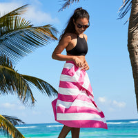 Quick dry towel - cabana bright pink