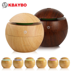 USB Aroma Oil Diffuser with 7 LED color options - Yosif Store