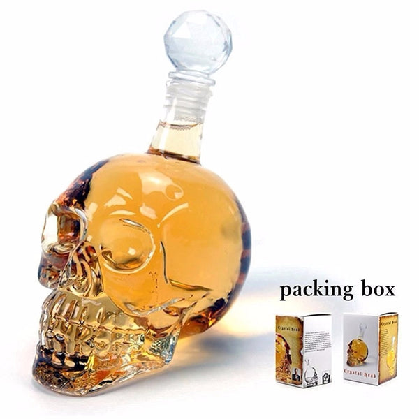 Creative Crystal Skull Head Bottle for Whiskey, Vodka, Wine etc.. - Yosif Store