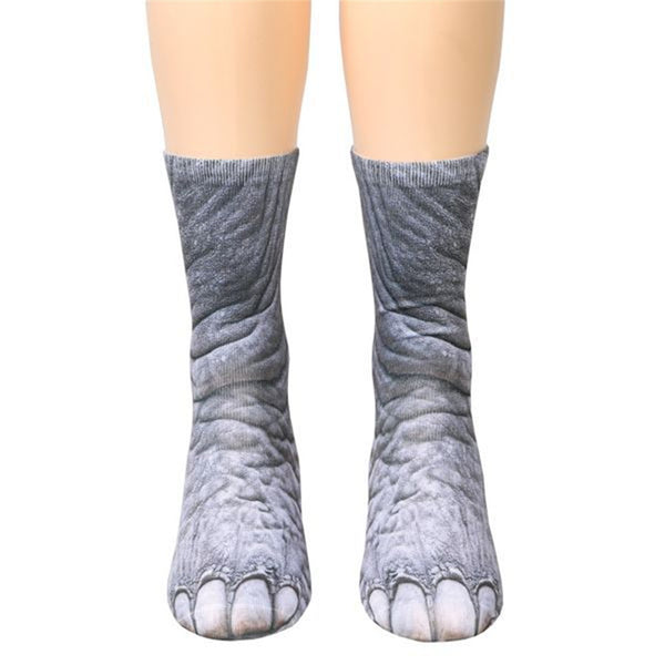 Adult Unisex Animal Paw Crew Socks - Yosif Store