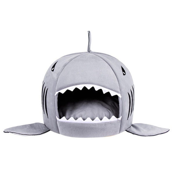 Shark Warm Indoor Kitten Dog and Cat Sleeping Bed - Yosif Store