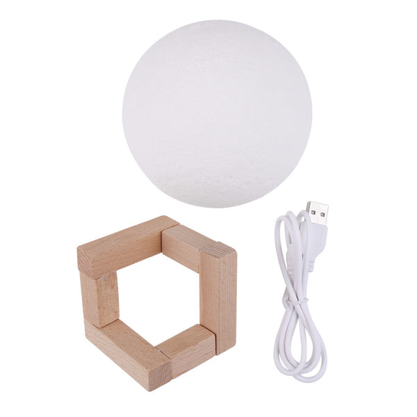 LED Night 3D Moon Light with USB Charging - Yosif Store