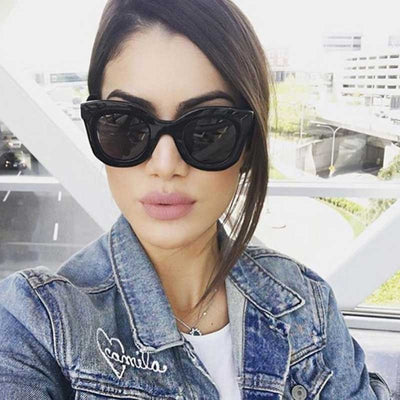 Cat Eye Big Frame Sunglasses for Women 2019 - Yosif Store