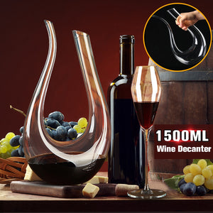 1500ml Luxurious Crystal Horn Red Wine Glass - Yosif Store
