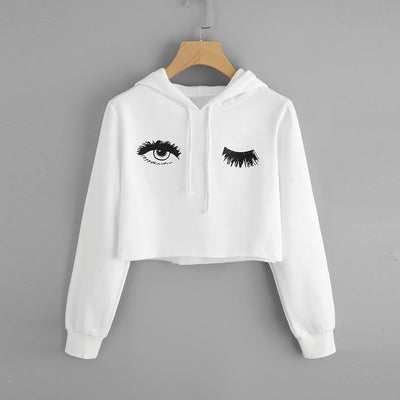 Hoodie Eye Printed Sweatshirt for Women - Yosif Store