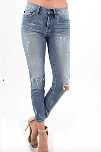 Light Destroyed denim distressed jeans