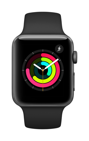 Apple Watch Series 3, Negro, 42 mm