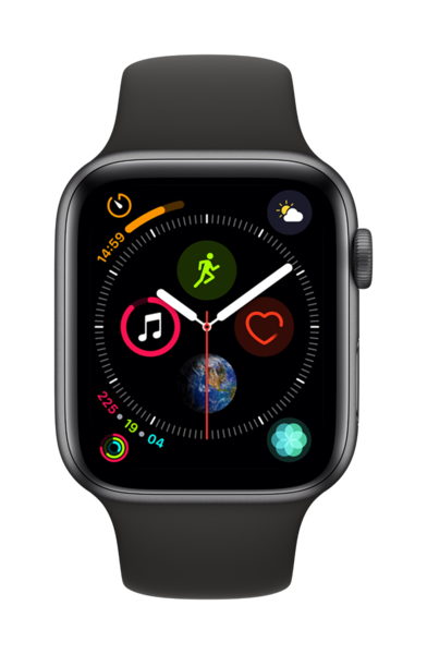 Apple Watch Series 4, Negro, 44 mm