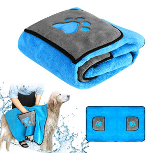 Absorbent Dog Bath Towel Quick Drying 🐕 🚿