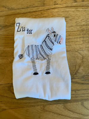 Z is for Zebra Shirt and Bloomer Set