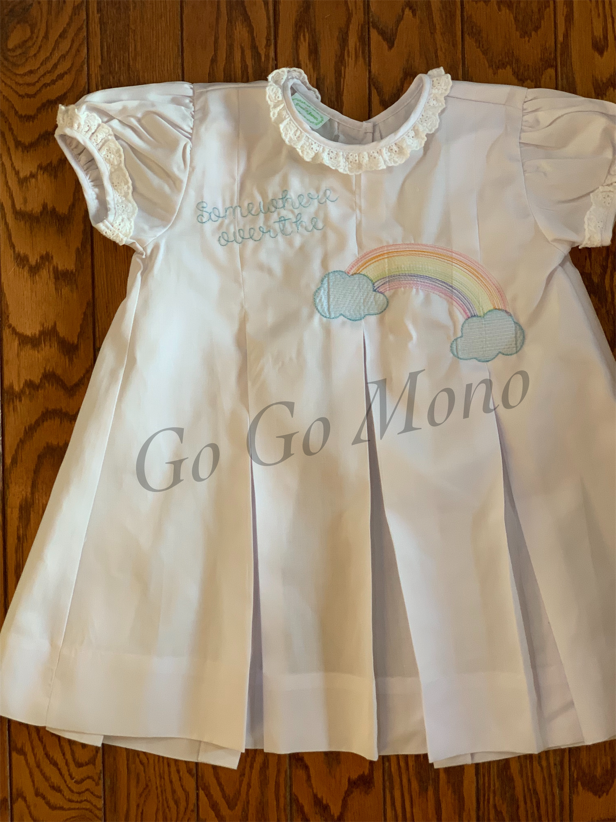 Somewhere Over the Rainbow Pleat Dress