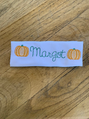 Pumpkin Monogram Shirt and Bloomer Set